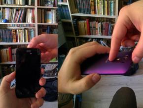 Вот она, эта самая аппликатура. Нет шансов сделать скриншот той же рукой, которой держишь телефон.